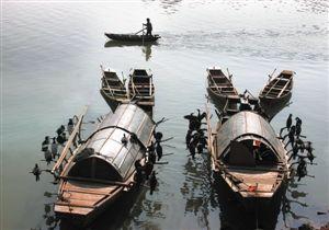 千里鄱阳湖一片白沙洲游船观鹤徜徉湿地