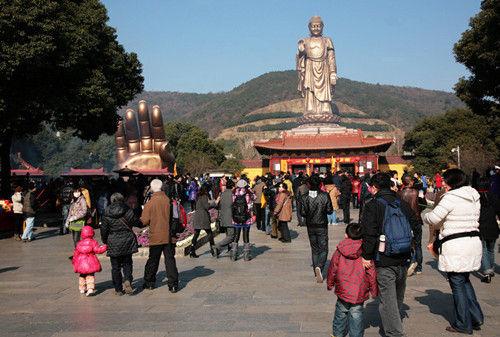 灵山风景区游客