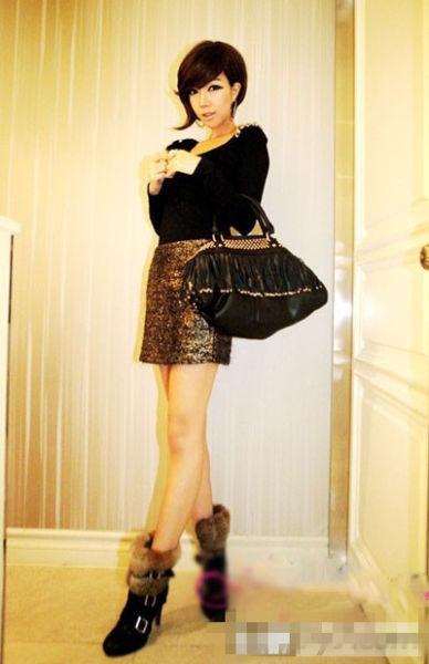 冬季短裙搭配图片 教你怎么搭出可爱风