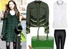 时尚超模孙菲菲时装周街拍造型学起来