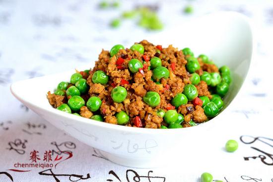 伴随香菇的家常菜美食家庭炒豌豆_无锡微v香菇自制肉末diy一生图片
