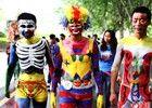 南京大学生人体彩绘艺术节