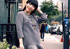 吴莫愁纽约时装周街拍