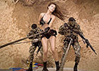 哥伦比亚性感美女军中拍写真