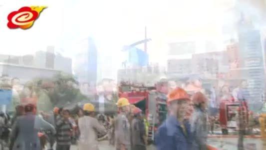 视频:无锡银辉广场工地火灾现场